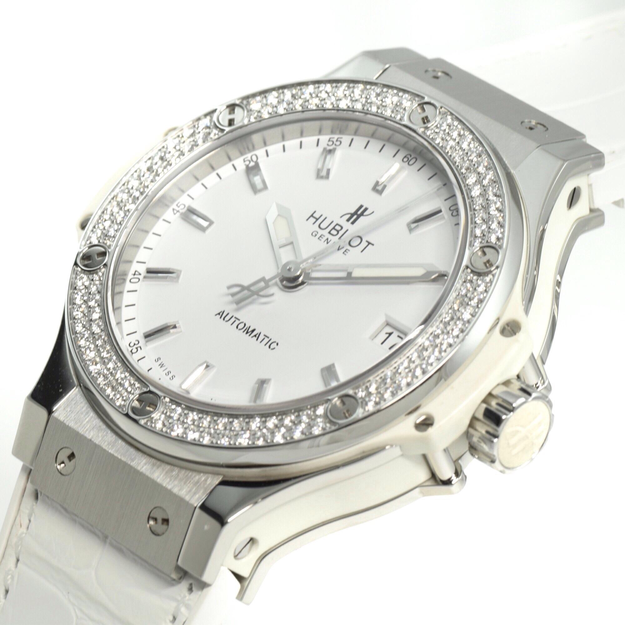 huge selection of 88760 6f46e 中古 ウブロ ビッグバン スチール ホワイト ダイヤモンド ...