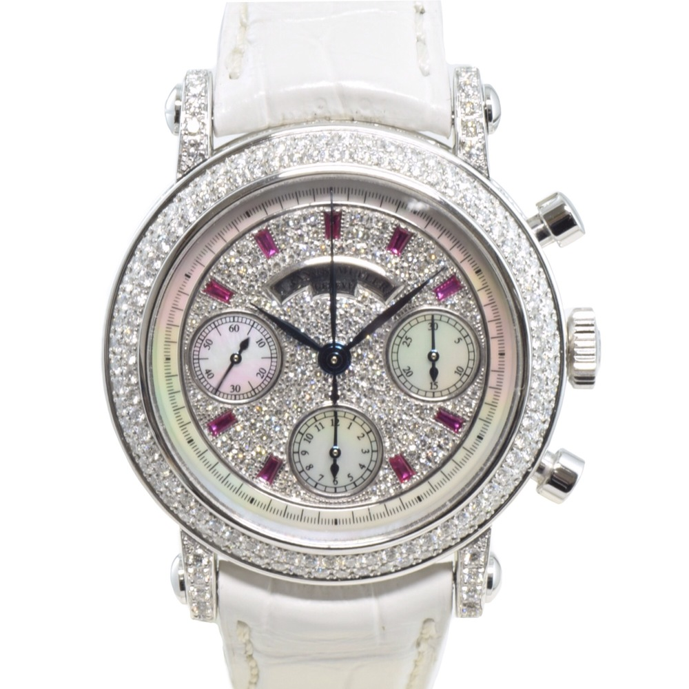 buy online 921be c10a1 中古 フランクミュラー ラウンドクロノグラフ ダイヤモンド ...